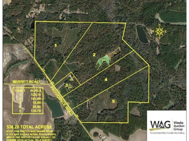 Now Selling Absolute!!!  Mason Estate 536 Acres Grady County Georgia
