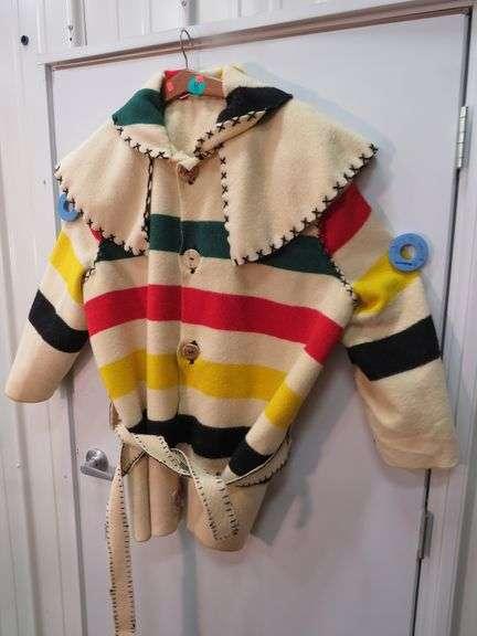 Wool Hudson Bay blanket made into an XXL coat