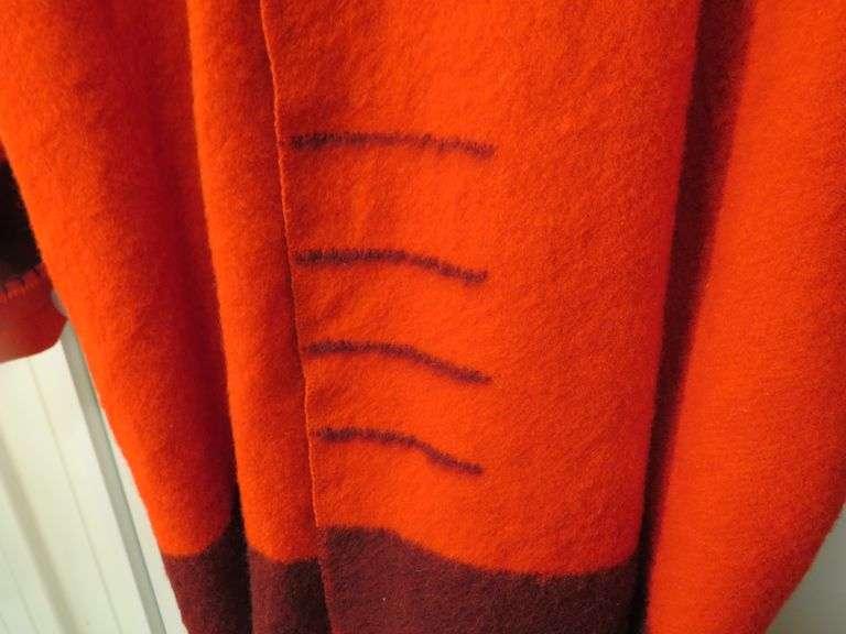 Hudson Bay 4-beaver wool blanket made into an XL coat