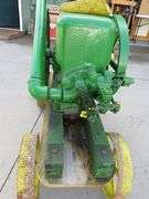 1945 John Deere Hit and Miss 1 1/2 HP engine on a cart with steel wheels model E108R