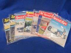 Seven monthly issues of Speed Age in 1953