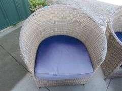 Five-piece Brohill  faux wicker patio set in excellent condition