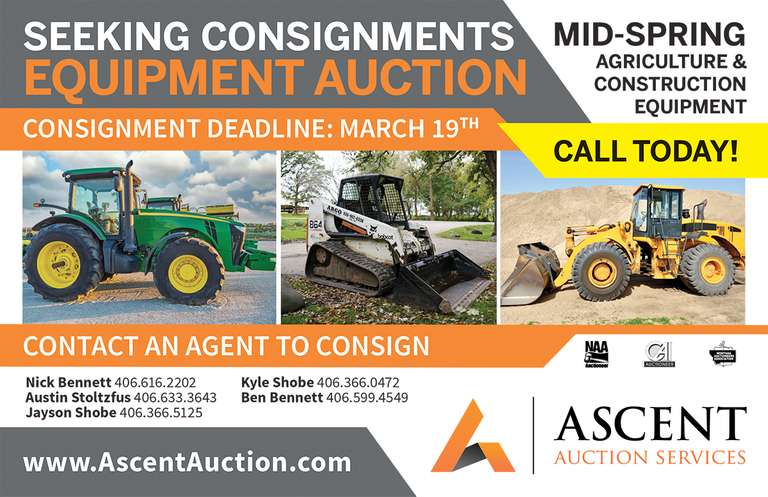 "Ascent Auction Announces the ""Mid Spring Ag & Construction Equipment Consignment Auction"""