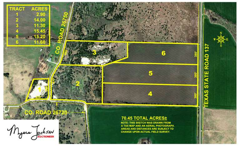 70.45 Acre Lamar County Land Auction