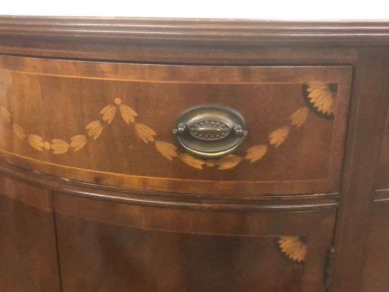 Beautiful Antique 1/2 barrel side table/Server