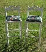Tall Pair Wooden Stools for Bar / Kitchen / Rec Room