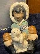 Lladro Sleeping Bear Figurine