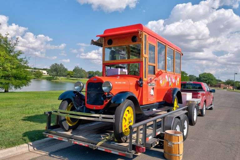 1929 Ford Model AA Mobile Concession Truck w/ 2005 Big Tex Trailer