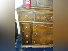 """Antique, very nice dresser, 68"""" tall, 42"""" wide, and 22"""" deep. Note: This item is located on the second floor of the house. Must bring assistance when picking up."""
