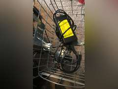 """Barely used """"SmartScoot"""" adult scooter in like-new condition with basket on the front. Includes cord and rechargeable battery.  Tested and in good working condition."""