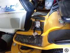 Cub Cadet 1517 Riding Lawn Tractor with mower deck.  Only has 100.8 Hours, with back attachment possible for leaf collector.  Koehler Command CV490 17HP OHV motor Was used last year.  Good working condition battery will need to be charged.   Starting bid for this lot is $400.00.