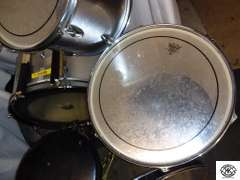 Summit Drum Company Drum set, with stool and sticks,  Comes with a Peace Drum Pedal