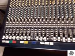 """Behringer Eurodesk MX3282A Soundboard 32 channel, 8 bus mixing console, with Eurodesk 150 watt power suppl;y, powers on, 40""""w x 21""""d x 4""""t, comes with manuals"""