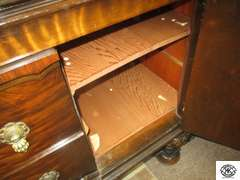 Batesville Cabinet Company, Hillenbrand Indus tires master made furniture from Batesville IN. Buffet Cabinet matches lots 3194 and 3196 in beautiful condition 24x75x38
