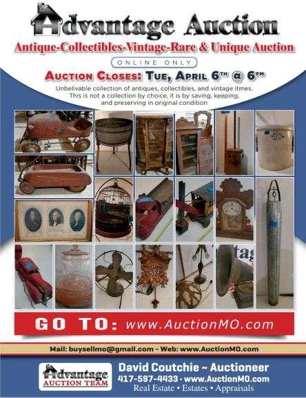 ANTIQUE, COLLECTIBLES, RARE & VINTAGE AUCTION