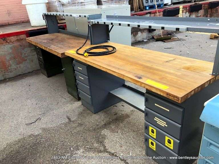 1483-NM Equipto & Lista Workbenches & Cabinets Online Auction