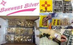 1419-NM Sunwest Silver Findings, Jewelry & Gemstones Online Auction
