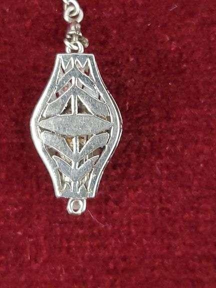 2 KARAT EUROPEAN CUT DIAMOND pendant in PLATINUM setting... VALUE $3000!!