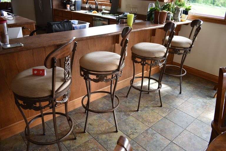 4 - Ashley Furniture Bar Height Chairs