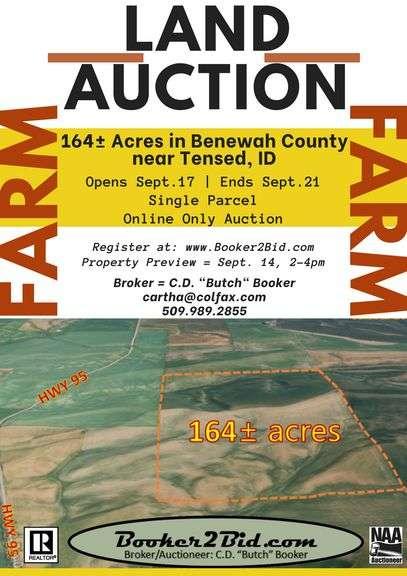 164± Acres in Benewah County near Tensed, ID