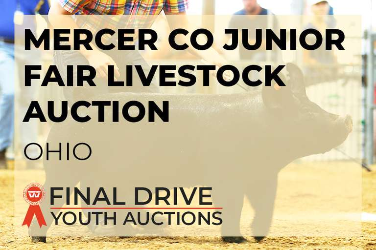 Mercer Co Jr Fair Livestock Auction - Ohio