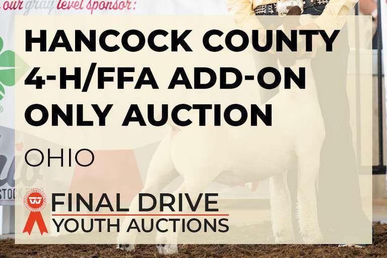 Hancock County Jr Fair Livestock Premium Donation Option - Ohio
