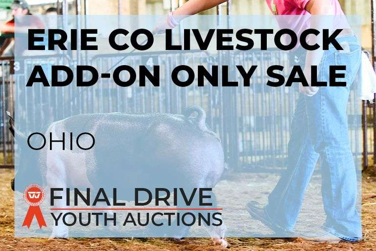 Erie Co Livestock Add-On ONLY Sale - Ohio