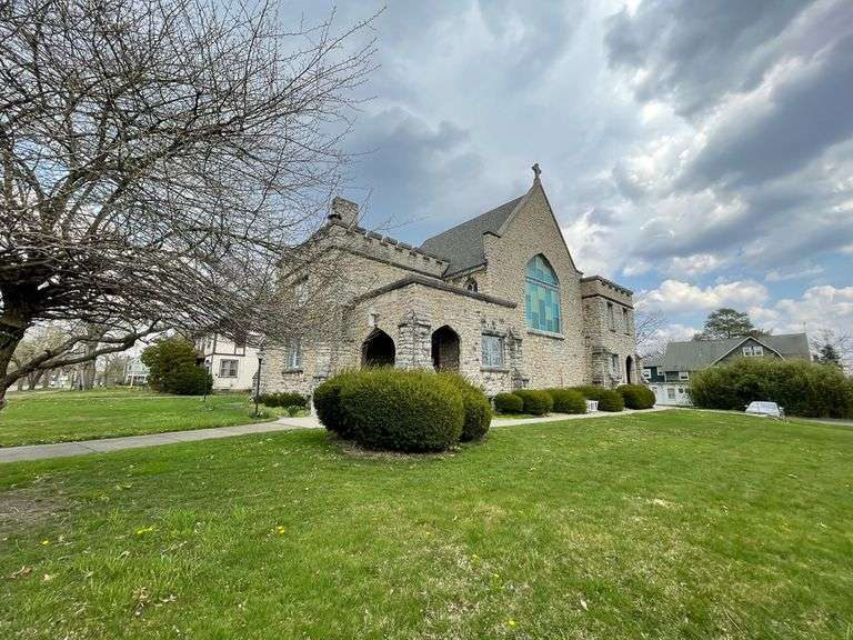 "Bidding Open! Online Real Estate Auction: 4400 SF Stone Building on 2 Parcels - Former ""Richard Brown United Methodist Church"" 1205 Elm St. Youngstown, OH 44505"