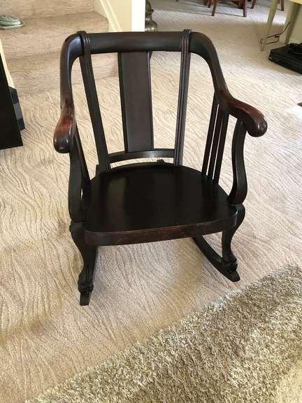 Antique Chippendale Rocker Chair