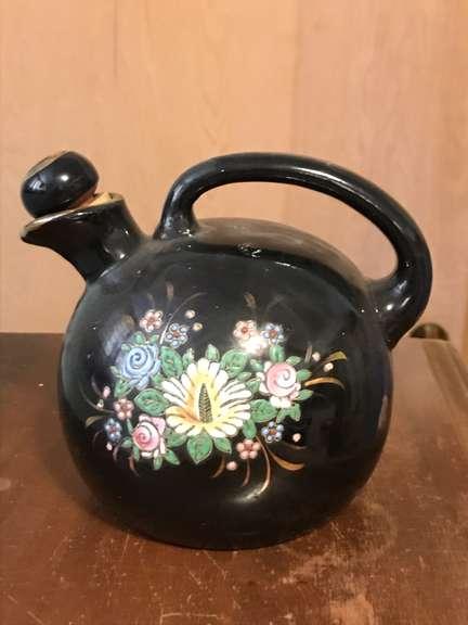 1930's Black Vase