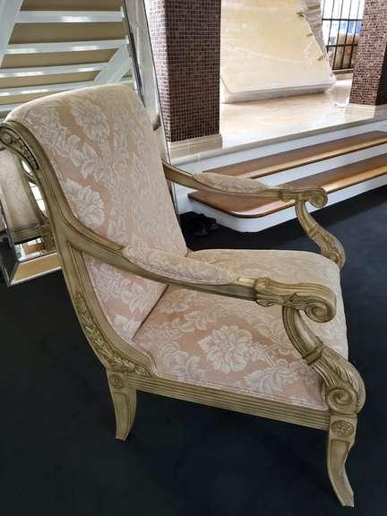 Wingback High Back Chair - Cream