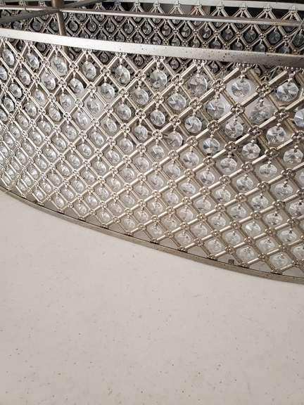 Oval Chandelier w/ Crystal Drops