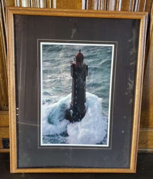 Lighthouse Painting with Gilt Framing