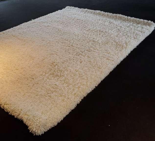 White Microfiber Area Rug