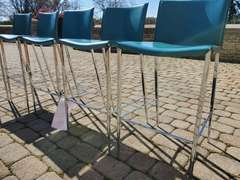 Blue Counter Stools