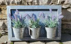 Artwork - Framed Wall Hanging Flowers Pots