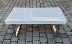 Red Apple High Gloss White Coffee Table