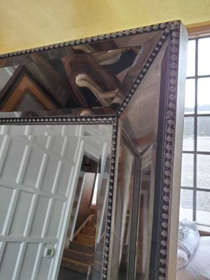 7 Foot Mirror with Silver Trim