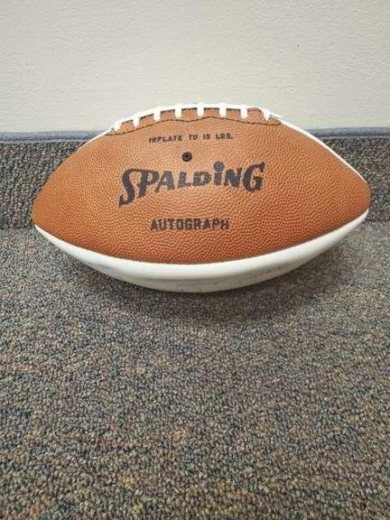 ORIGINAL OSU CHAMPIONSHIP FOOTBALL - SIGNED BY WOODY HAYES & ENTIRE FOOTBALL TEAM