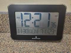 Marathon Black Digital Clock
