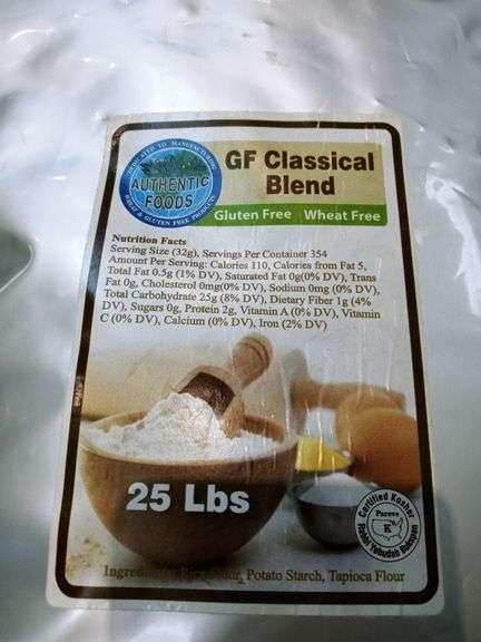 Authentic Foods Gluten-Free Classical Blend Flour - 25 lb Bag