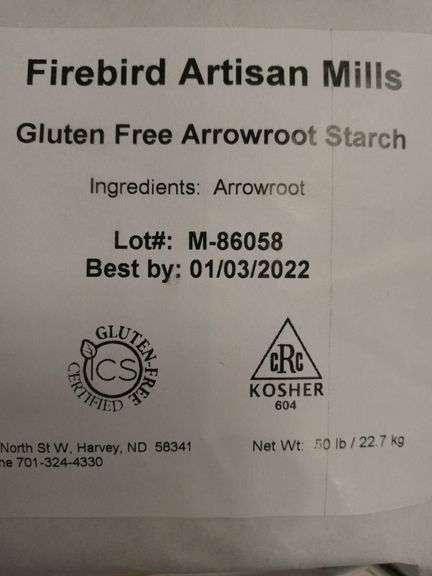 Firebird Artisan Mills Gluten-Free Arrowroot Starch - 50 lb Bag
