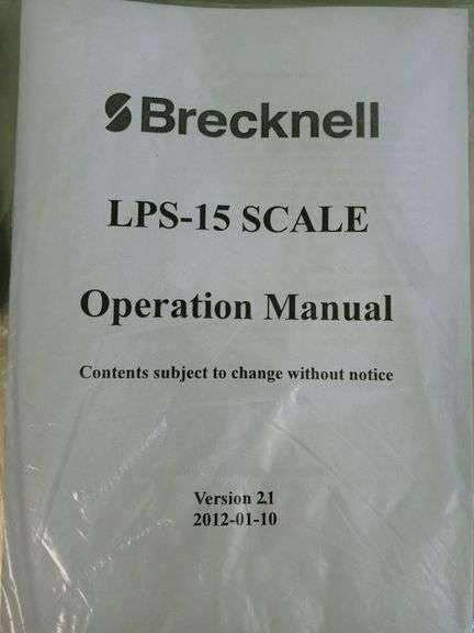 Brecknell LPS-15 Bench Digital Scale with Manual