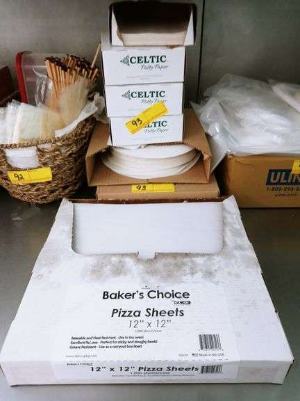 Dry Wax Paper Baker/Pizza Sheet Liners