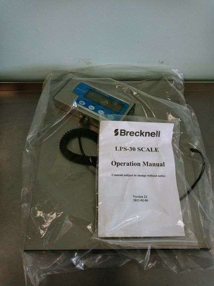 Brecknell LPS-30 Bench Digital Scale with Manual