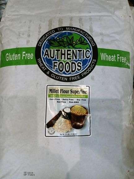 Authentic Foods Millet Gluten-Free & Wheat-Free Flour Superfine - 25 lb Bag