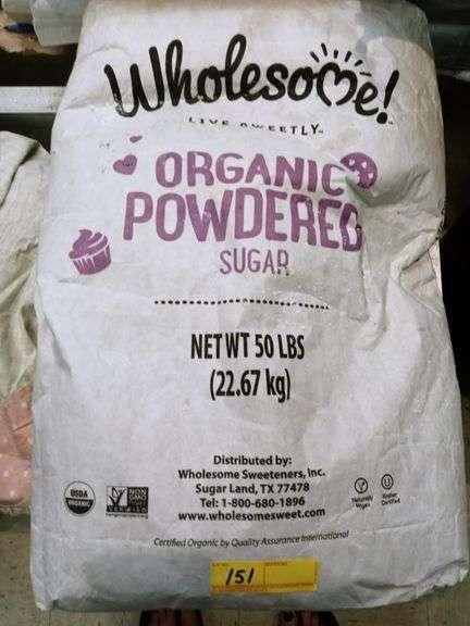 Wholesome Organic Powered Sugar - 50 lb