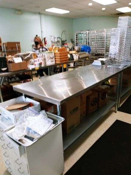 """Stainless Steel Table - 30"""" x 72"""" x 36"""""""