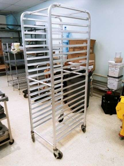 Food Tray Racks on Wheels