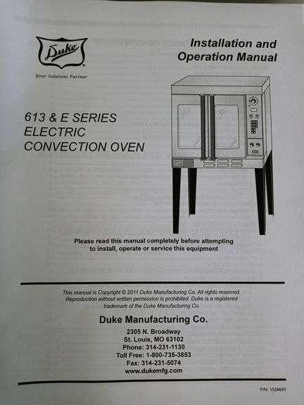 Deck Oven - Duke Manufacturing